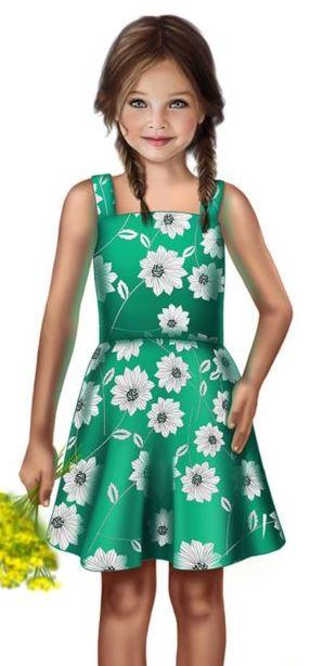 2c15ac17e53c228 Сшить простой летний сарафан на девочку можно быстро и просто. Тем более  что сделать выкройку модели мы вам поможем.