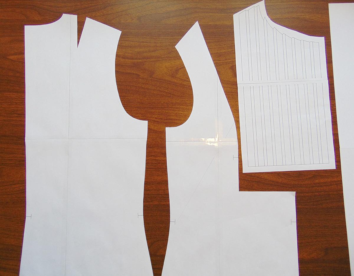 Выкройка рукава по пройме готового изделия