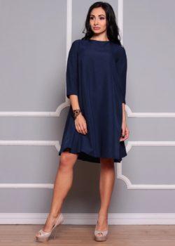 Платье синее свободного кроя